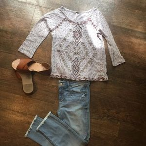Free people lace Aztec top